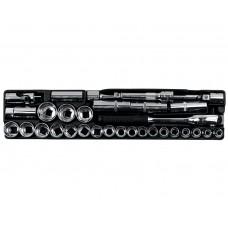 """Набор инструмента 34 предмета, (1/2"""", """"SL"""", 8-32мм), в пласт. лотке 110х470мм"""
