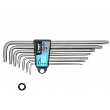 Набор ключей Г-обр. TORX 7 предметов, экстрадлинные, (T10-T40), S2, в держателе