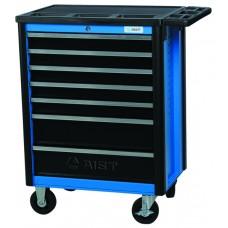 Тележка для инструмента 7-ми секционная выдвижная, голубая, 700х480х810мм