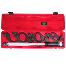 Ключ динамометрический 40-210Нм привод 14х18мм, с набором радиусных насадок