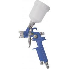 Краскопульт пневмат. HVLP c верхним пластик бачком 150мл, быстросъемное соединение