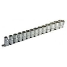 """Набор головок 14 предметов, (1/2"""", """"SL"""": 10-32мм), на метал. рельсе"""