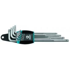 Набор ключей Г-обр. TORX 9 предметов, экстрадлинные, (T10-T50), в держателе