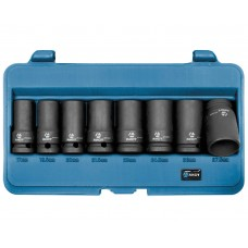 Набор эксктракторов наружных 8 пр., 17,18.5,20,21.5,23,24.5,26,27.5мм, для отворачивания секретных болтов автомобилей