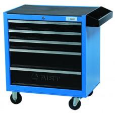 Тележка для инструмента 5-ти секционная выдвижная, голубая, 680х460х655мм