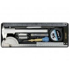 Набор инструмента измерительного 10 предметов, в ложементе 145x402x46 мм