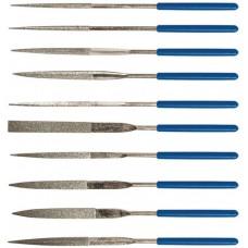 Надфили алмазные, ПВХ ручка, 3 х 140 х 50 мм, 10 шт.