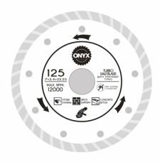 Диск алмазный 125х22 турбо ONYX/бетон , кирпич