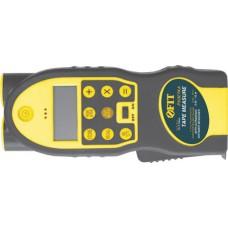 Дальномер ультразвуковой с лазерной указкой, расчет площади/объема, LCD дисплей с подсветкой, встроенная рулетка 5 м х 19 мм
